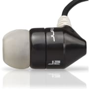 JBuds J2 Earbuds - Noise-Isolating In-Ear Style Headphones, Black/Chrome Silver