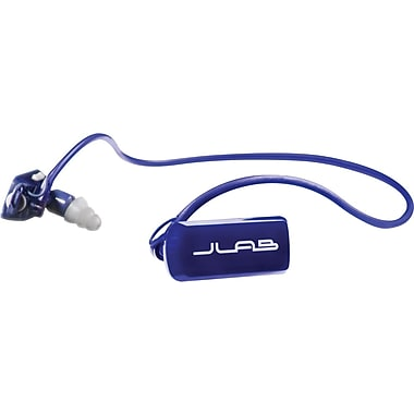 JLab GO Sports MP3 Player Headphones, 4GB, Blue/Silver