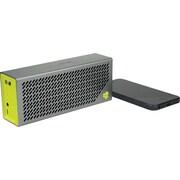 JLab Crasher Portable Bluetooth Hi-Fi Speaker with Phone Charging Port, Sports Yellow