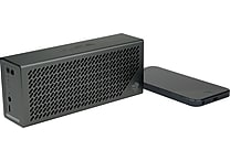 JLab Crasher Portable Bluetooth Hi-Fi Speaker with Phone Charging Port, Midnight Black