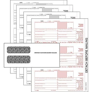 TOPS™ 1098 Tax Form Kit, 4 Part, White, 8 1/2in. x 11in., 150 Sets Per Kit