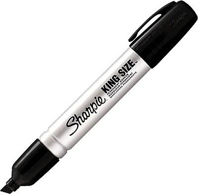Sharpie King Size Permanent Marker Chisel Tip Black 15001