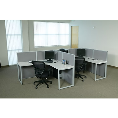 OSP Box Office F-Shaped Workstation, 2 User