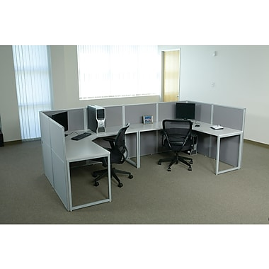 OSP Box Office U-Shaped Workstation, 2 User