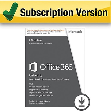 Microsoft Office 365 University for Windows/Mac (2 Device) [Download]