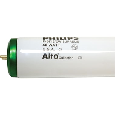 40 Watt Philips 48-inch T-12 Fluorescent Bulbs, Cool White, 10/Pack