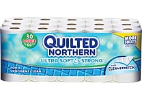 Quilted Northern® Ultra Soft & Strong, 2-Ply, 30 Rolls/Case