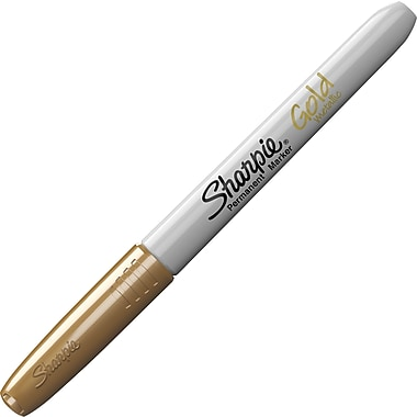 Sharpie® Metallic Fine Point Permanent Markers, Gold, 4/Pack