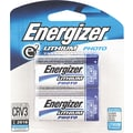 Energizer e² Lithium Photo Battery, CR2, 3 Volt, 2/Pack