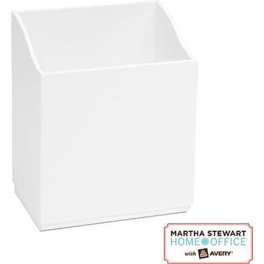 Martha Stewart Home Office with Avery Wall Manager Tall Caddy, Chalk White