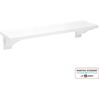 Martha Stewart Home Office with Avery Wall Manager Shelf, 21760, Chalk White, 3in. x 12in.