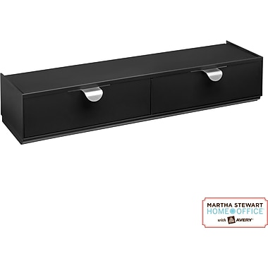 Martha Stewart Home Office with Avery Wall Manager Drawer Set, 21741, Graphite, 3in. x 12in.
