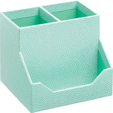 Martha Stewart Home Office™ with Avery™ Stack+Fit™ Shagreen Pencil Cup and Business Card Holders