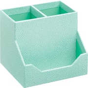 Martha Stewart Home Office™ with Avery™ Stack+Fit™ Shagreen Pencil Cup and Business Card Holder, Blue