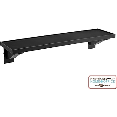 Martha Stewart Home Office with Avery Wall Manager Shelf, 21760, Graphite, 3in. x 12in.