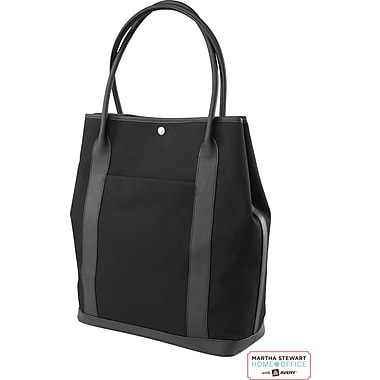 Martha Stewart Home Office with Avery Laptop Tote, Black, 14in. x 16 1/2in. x 6in.