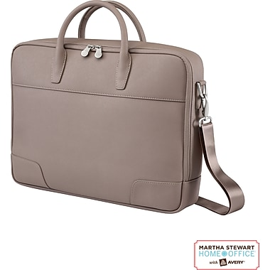 Martha Stewart Home Office with Avery Laptop Briefcase, Walnut, 16in. x 12in. x 3in.