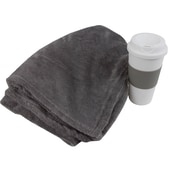 Fleece Blanket and Coffee Cup