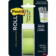 Post-it® Full Adhesive Roll, 1 x 400, Green