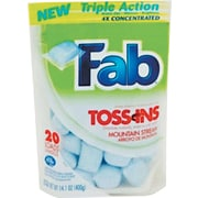 Fab® Laundry Detergent Toss Ins, Packets, 4 per Carton