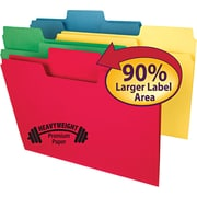 SuperTab Heavyweight folder, Assorted, 1/3 Cut, Legal,, 50/BX