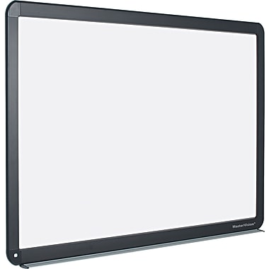 Master Vision 52in.(H) x 70in.(W) x 1 1/4in.(D) Magnetic Dry Erase Board, Black metal Frame