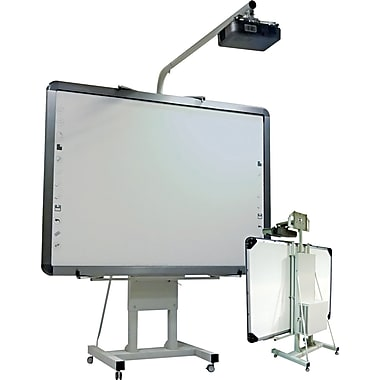 MasterVision® 85 1/2in.-103in.(H) x 44in.-59in.(W) x 12in. - 55in.(D) Interactive Board Mobile Stand