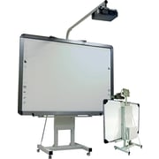 "MasterVision® 85 1/2""-103""(H) x 44""-59""(W) x 12"" - 55""(D) Interactive Board Mobile Stand"
