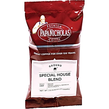 Papa Nicholas Special House Blend Ground Coffee, Regular, 2.5 oz., 18 Packets