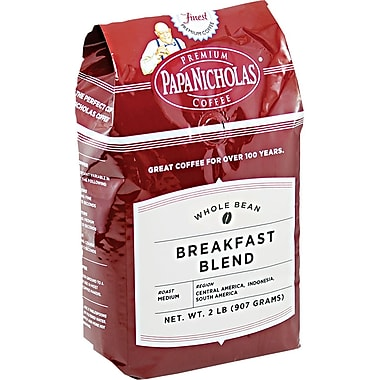 Papa Nicholas Breakfast Blend Whole Bean Coffee, Regular, 2 lb. Bag
