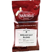 Papa Nicholas® Breakfast Blend Ground Coffee, Regular, 2.5 oz., 18 Packets