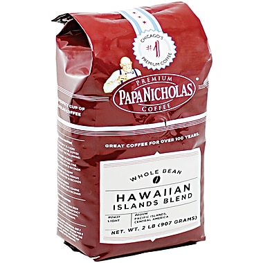 Papa Nicholas® Hawaiian Islands Blend Whole Bean Coffee, Regular, 2 lb. Bag
