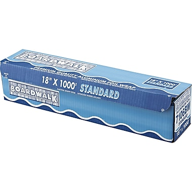 Boardwalk® Standard Aluminum Foil Roll, 1000 ft L x 18