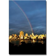 "Trademark Global Ariane Moshayedi ""Skyline Rainbow"" Canvas Art, 30"" x 47"""