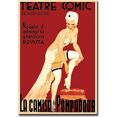 Trademark Global in.Teatre Comic de Barcelonain. Gallery Wrapped Canvas Art, 18in. x 24in.