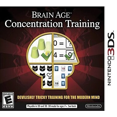 Nintendo® CTRPASRE Brain Age Concentration, Educational, Nintendo 3DS