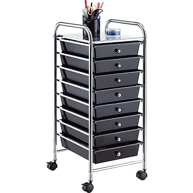 Whalen® Rolling Storage Organizer, 8 Drawer Cart