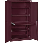 Sandusky Pull Out Tray Shelves Storage, Burgundy