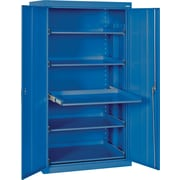 Sandusky Pull Out Tray Shelves Storage, Blue