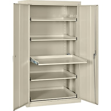 Sandusky Pull Out Tray Shelves Storage, Putty