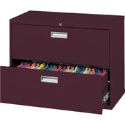 Sandusky 36 Lateral File, 2-Drawer, Burgundy
