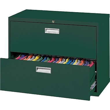 Sandusky 36in. Lateral File, 2-Drawer, Forest Green