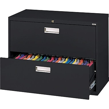 Sandusky 36in. Lateral File, 2-Drawer, Black