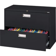 Sandusky 36 Lateral File, 2-Drawer, Black