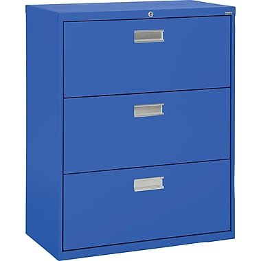 Sandusky 36in. Lateral File, 3-Drawer, Blue