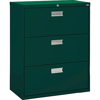 Sandusky 36in. Lateral File, 3-Drawer, Forest Green