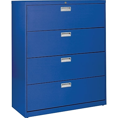 Sandusky 36in. Lateral File, 4-Drawer, Blue