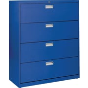 Sandusky 36 Lateral File, 4-Drawer, Blue
