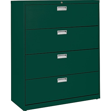 Sandusky 36in. Lateral File, 4-Drawer, Forest Green