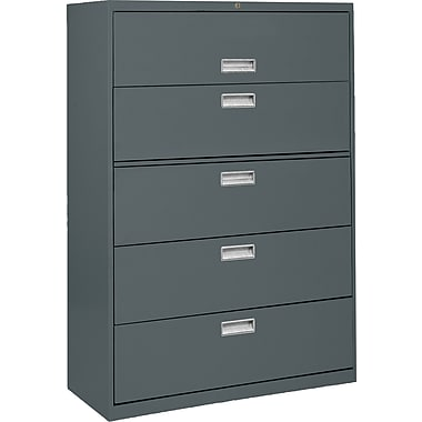 Sandusky 36in. Lateral File, 5-Drawer, Charcoal